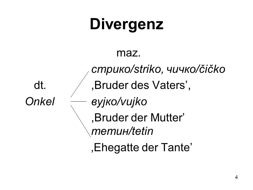 Divergenz maz. стрико/striko, чичко/čičko dt. ,Bruder des Vaters',
