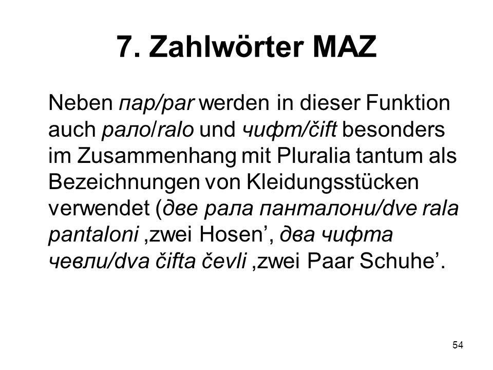 7. Zahlwörter MAZ