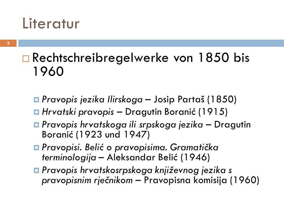 Literatur Rechtschreibregelwerke von 1850 bis 1960