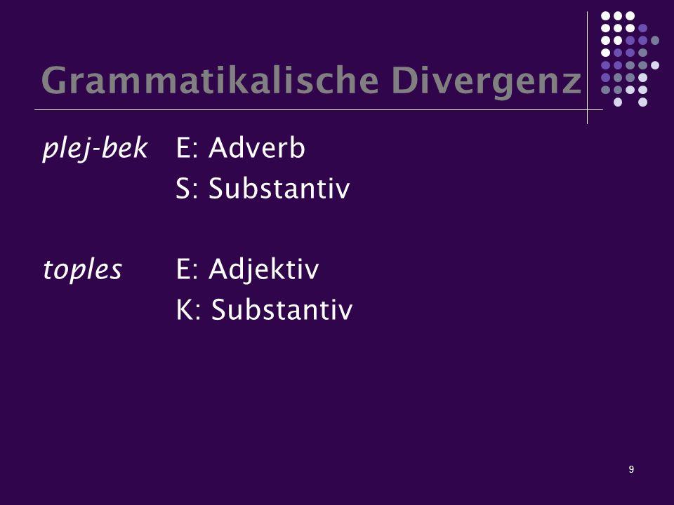 Grammatikalische Divergenz