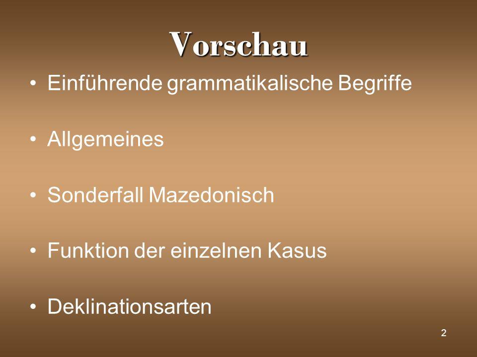 Vorschau Einführende grammatikalische Begriffe Allgemeines