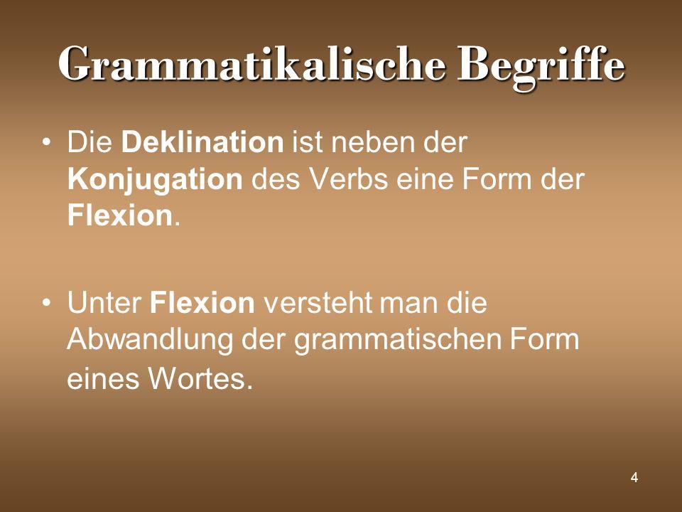 Grammatikalische Begriffe