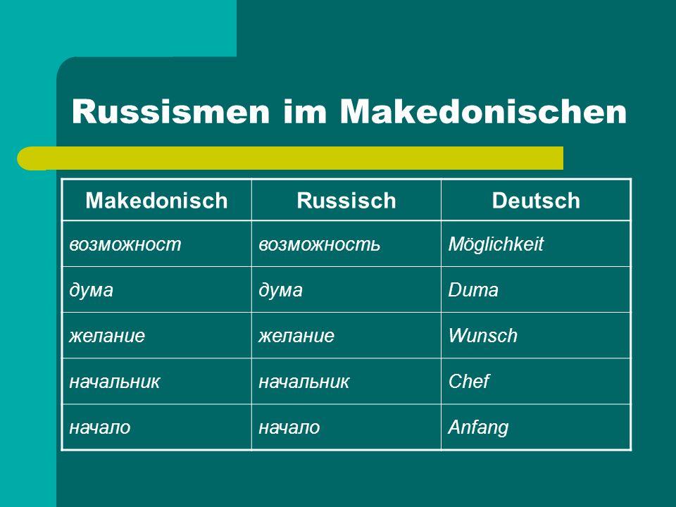 Russismen im Makedonischen