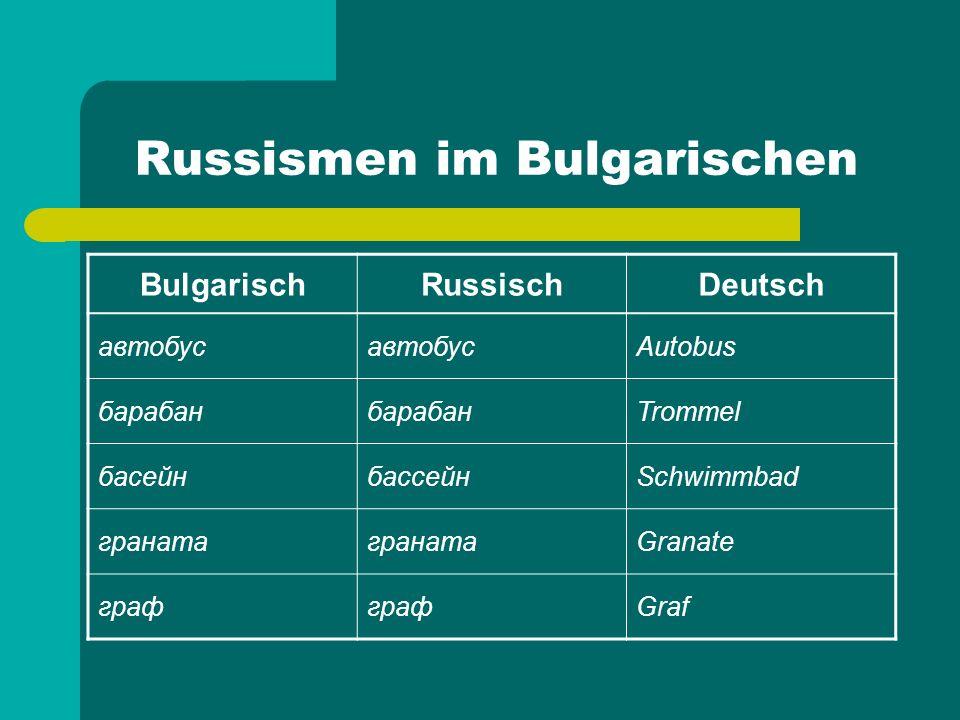 Russismen im Bulgarischen