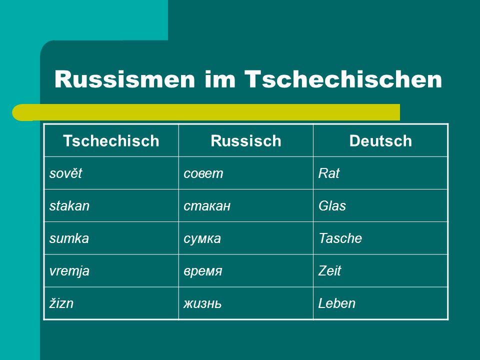 Russismen im Tschechischen