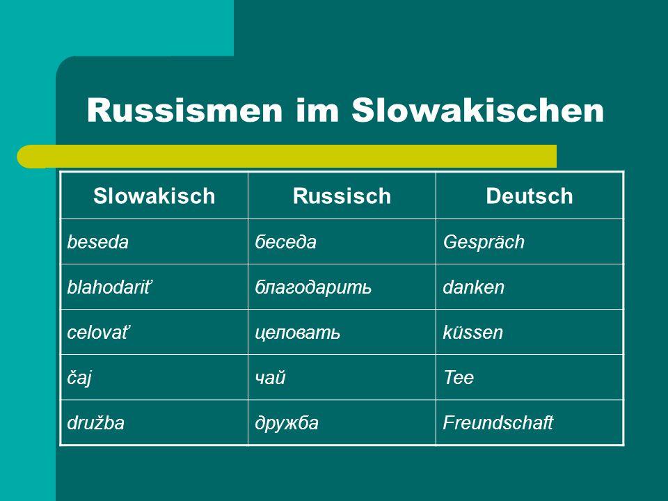 Russismen im Slowakischen