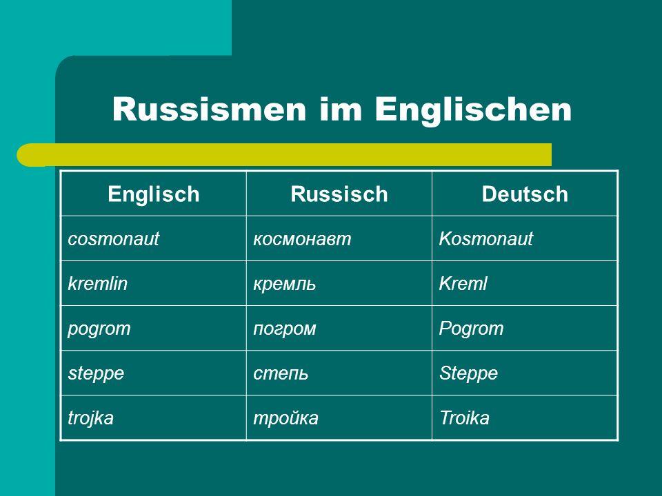 Russismen im Englischen