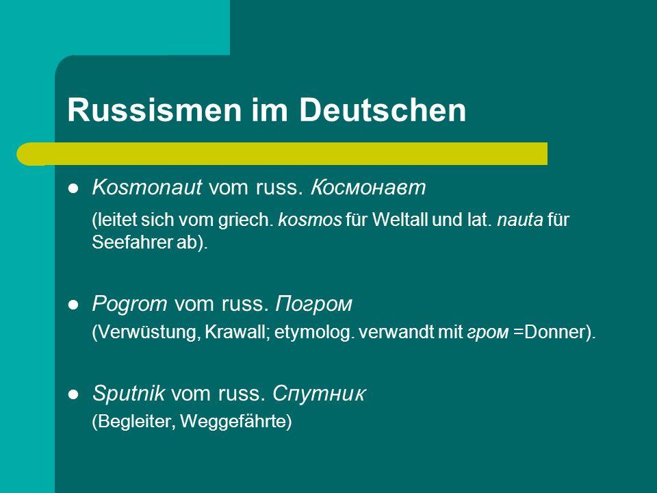 Russismen im Deutschen