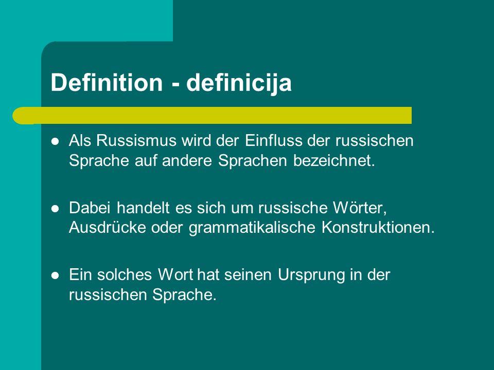 Definition - definicija