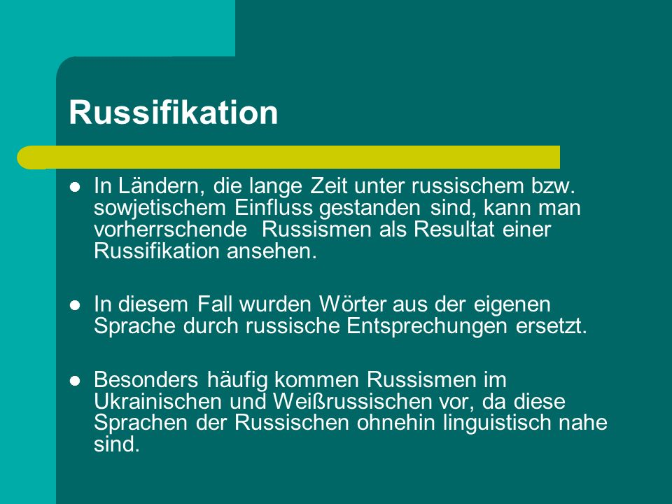 Russifikation