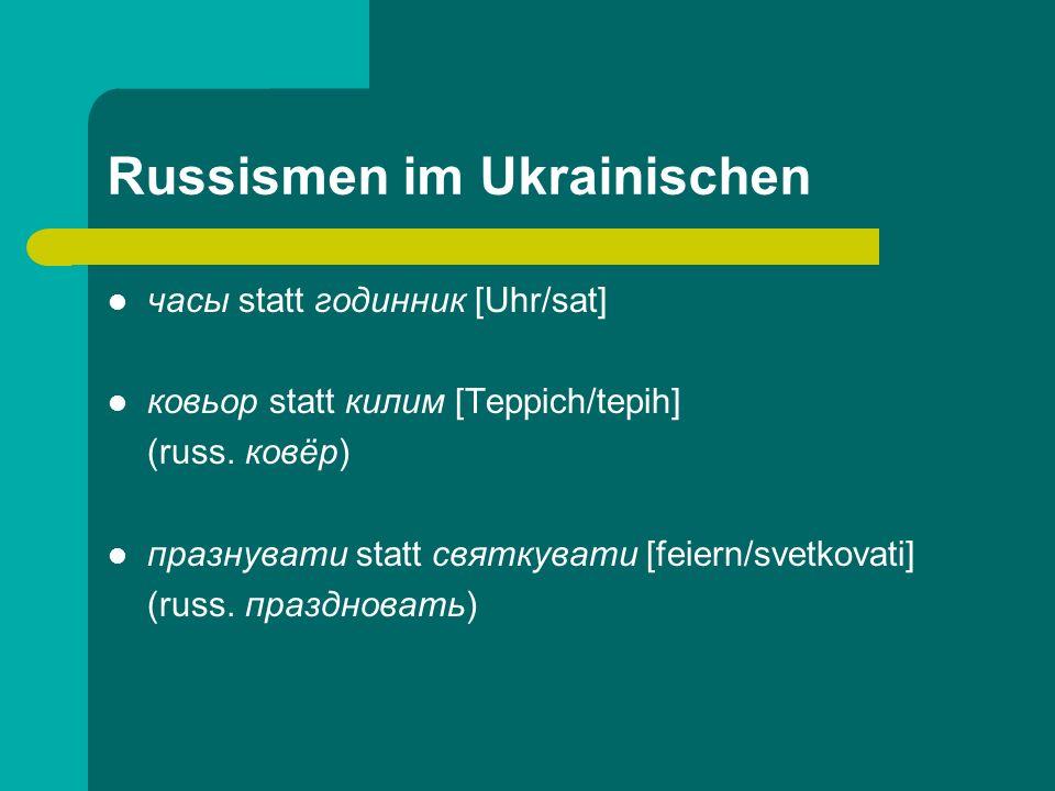 Russismen im Ukrainischen