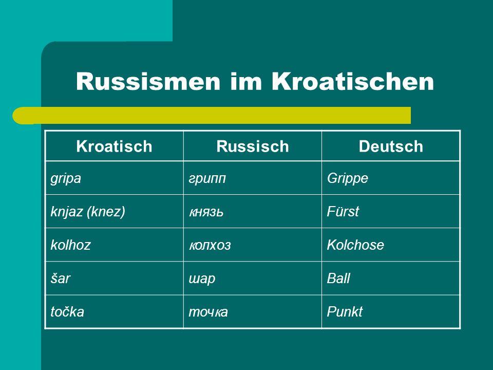 Russismen im Kroatischen