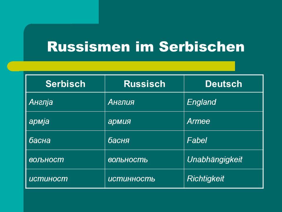 Russismen im Serbischen