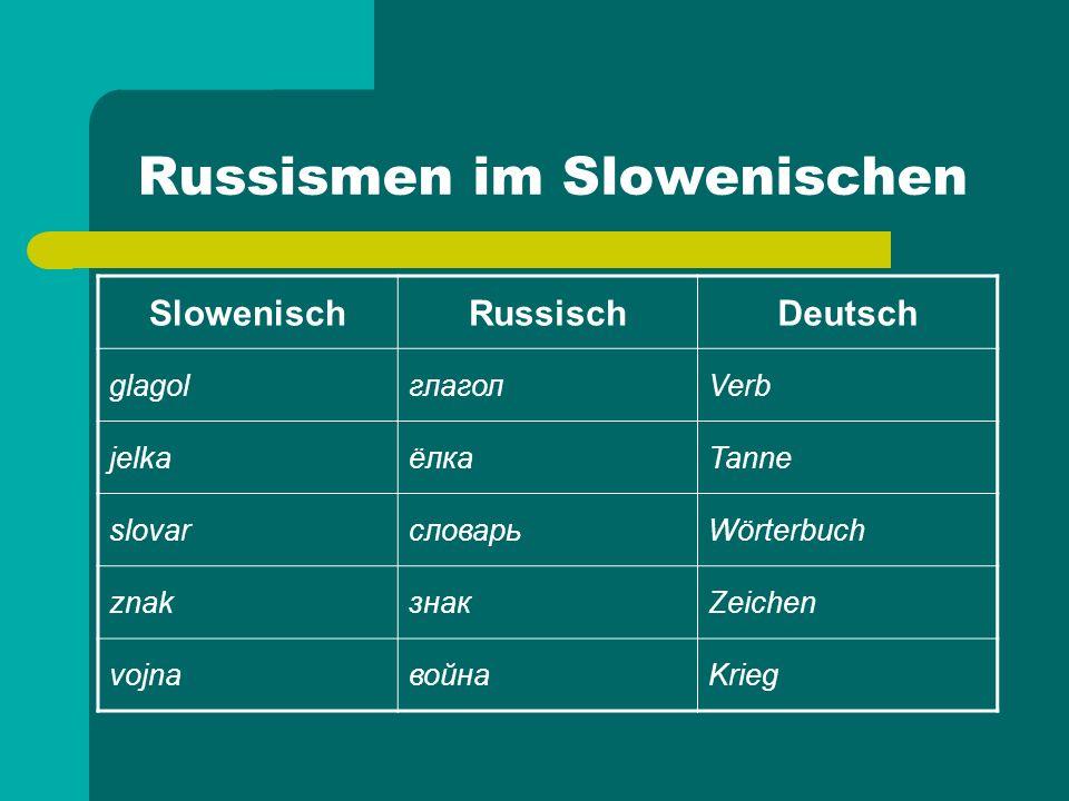 Russismen im Slowenischen