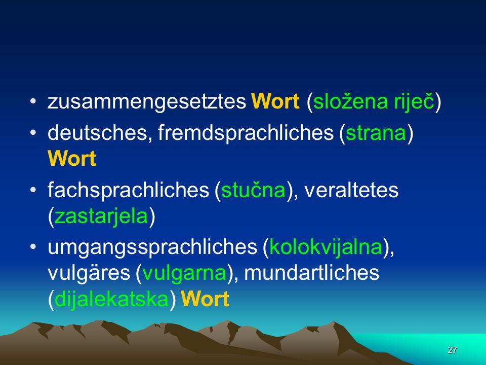 zusammengesetztes Wort (složena riječ)