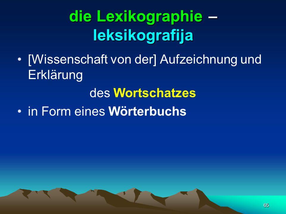 die Lexikographie – leksikografija