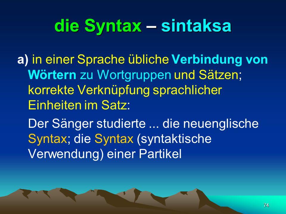 die Syntax – sintaksa