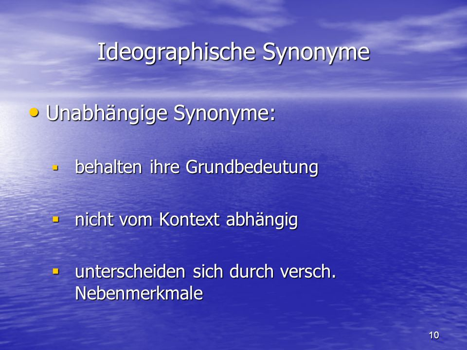 Ideographische Synonyme