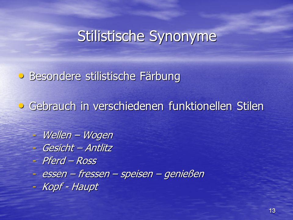 Stilistische Synonyme
