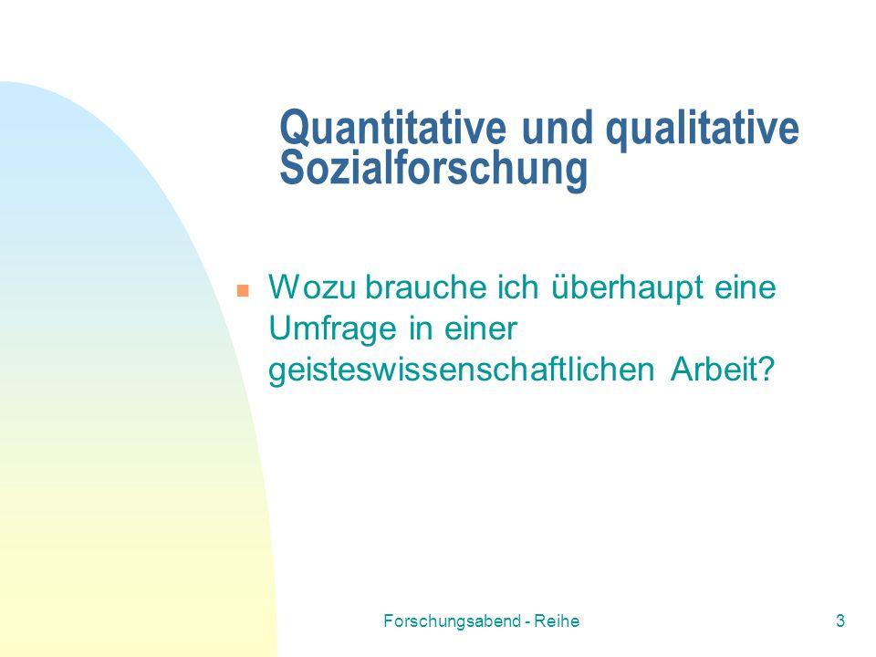 Quantitative und qualitative Sozialforschung