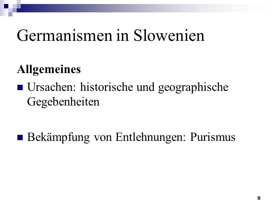 Germanismen in Slowenien