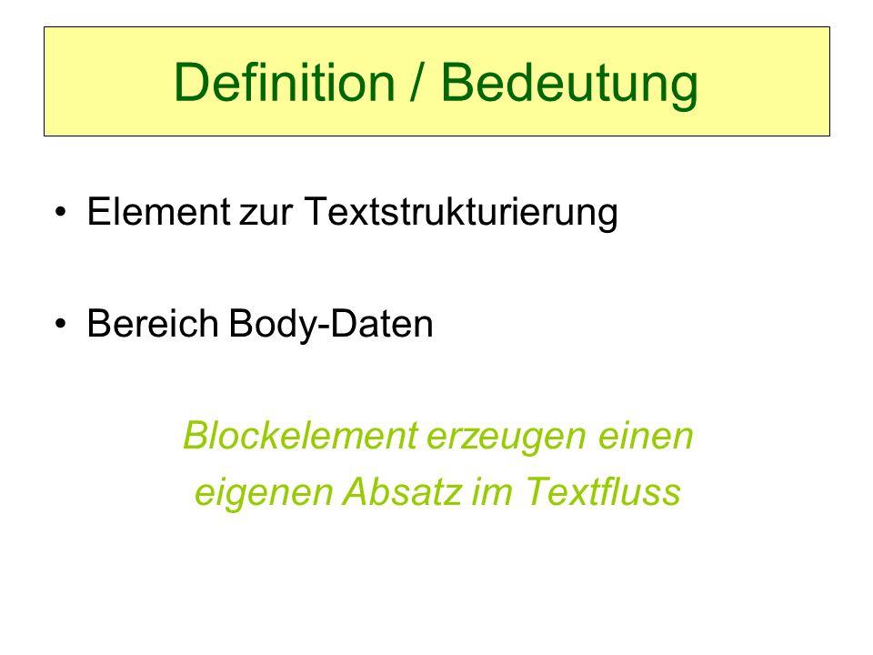Definition / Bedeutung