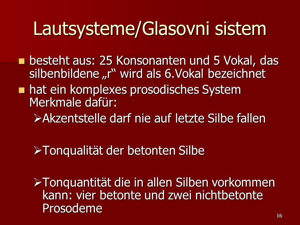 Lautsysteme/Glasovni sistem
