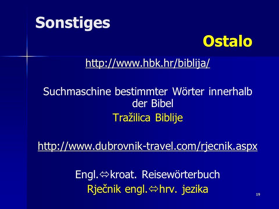 Sonstiges Ostalo http://www.hbk.hr/biblija/