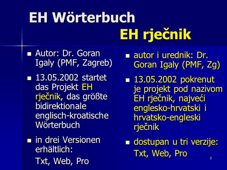 EH Wörterbuch EH rječnik