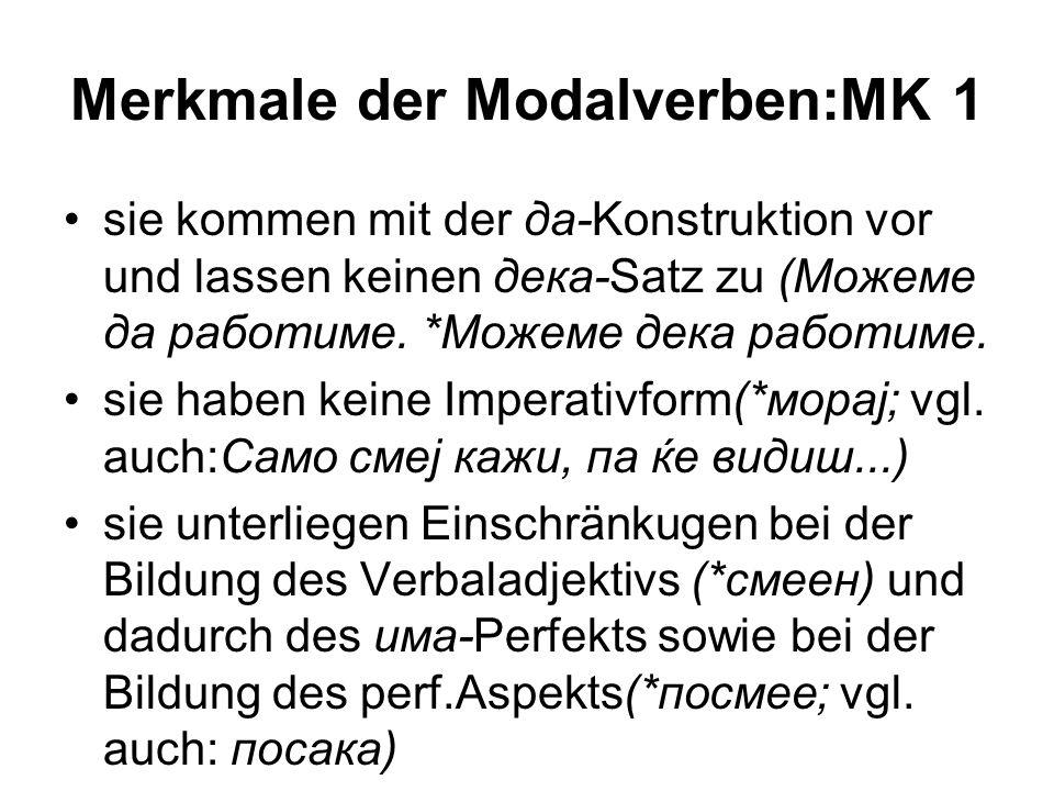 Merkmale der Modalverben:MK 1