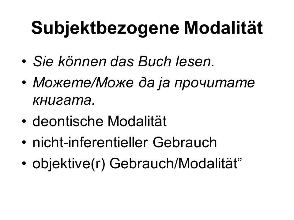 Subjektbezogene Modalität