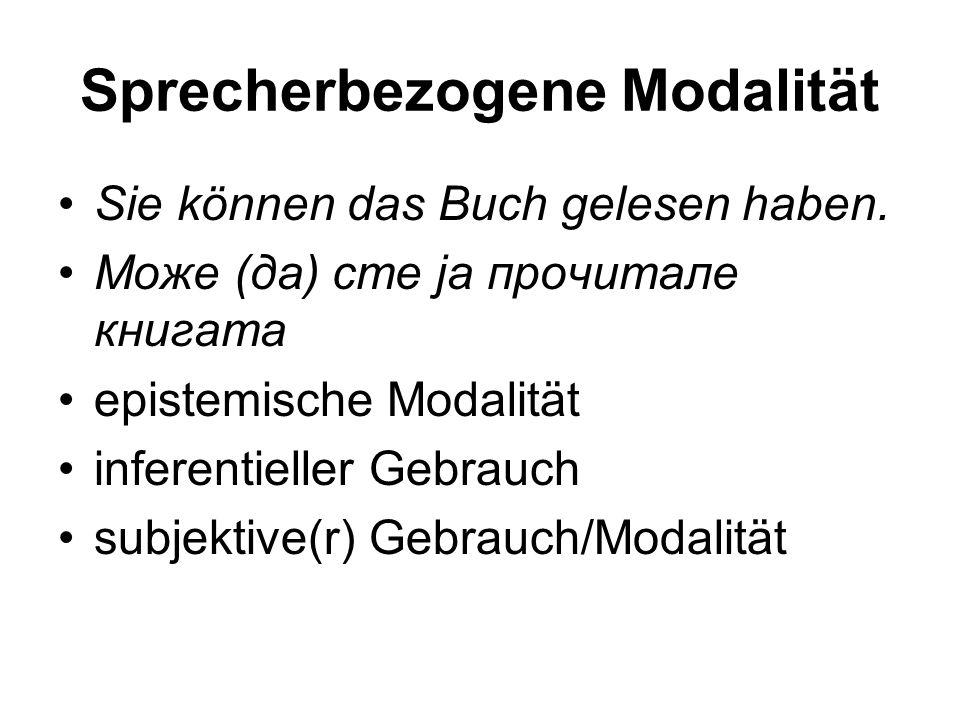 Sprecherbezogene Modalität