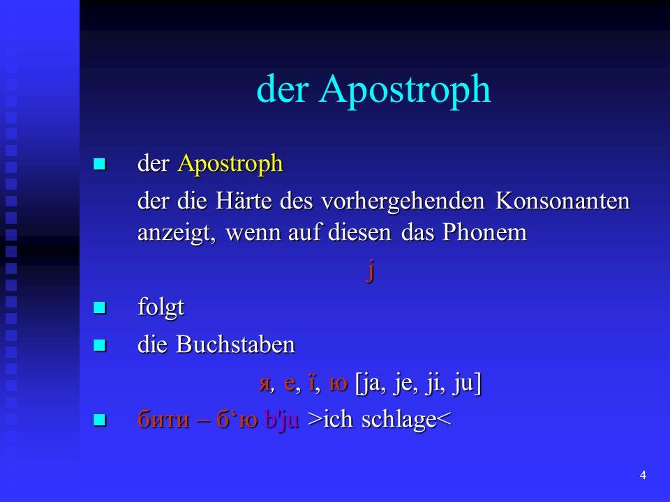 der Apostroph der Apostroph