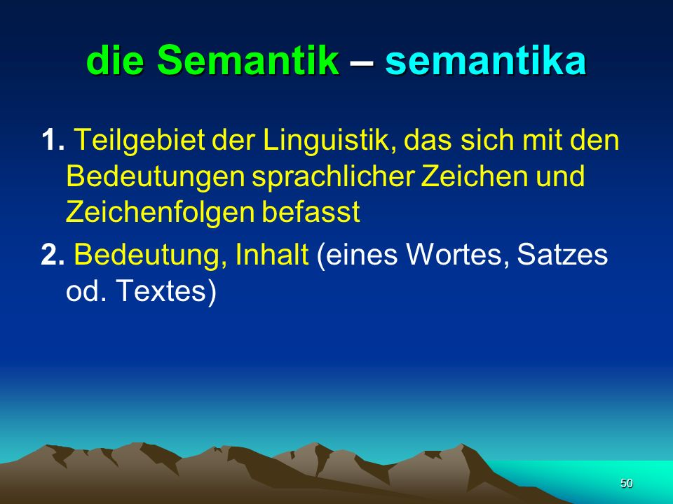 die Semantik – semantika