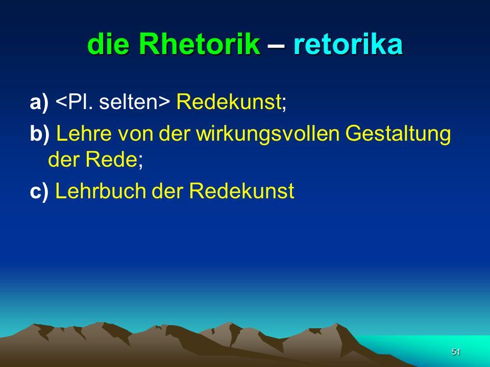 die Rhetorik – retorika