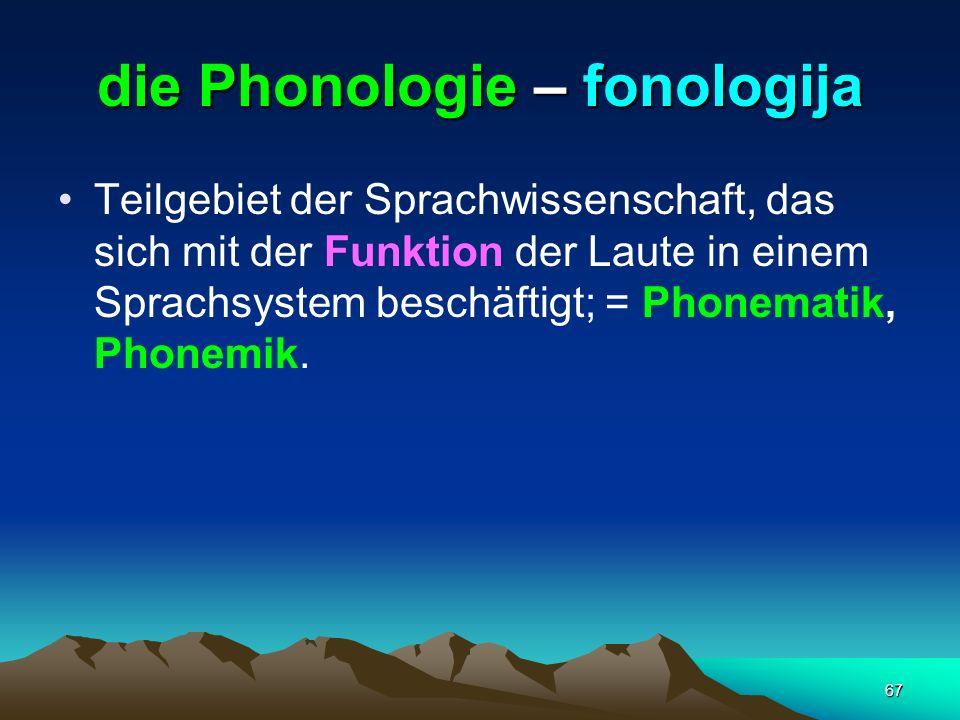 die Phonologie – fonologija