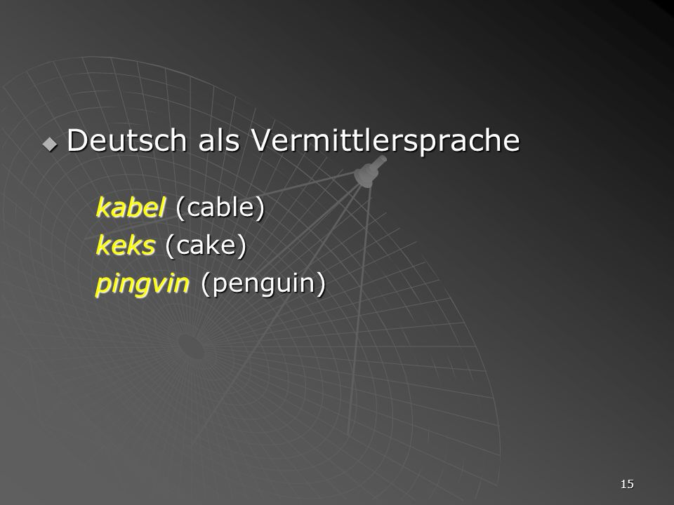 Deutsch als Vermittlersprache kabel (cable)