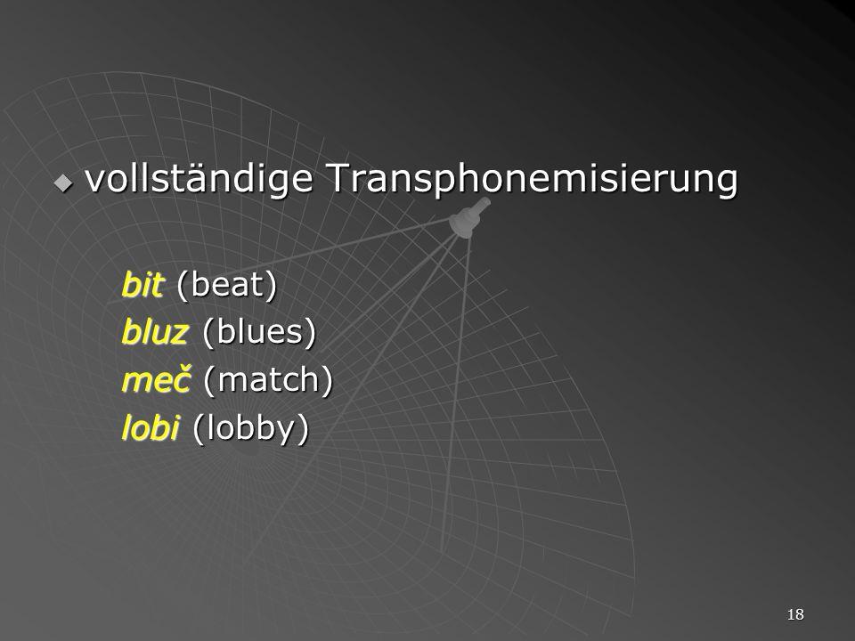 vollständige Transphonemisierung
