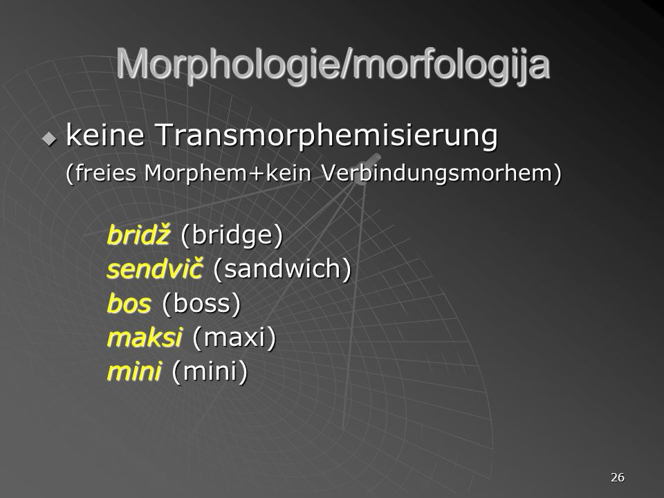 Morphologie/morfologija
