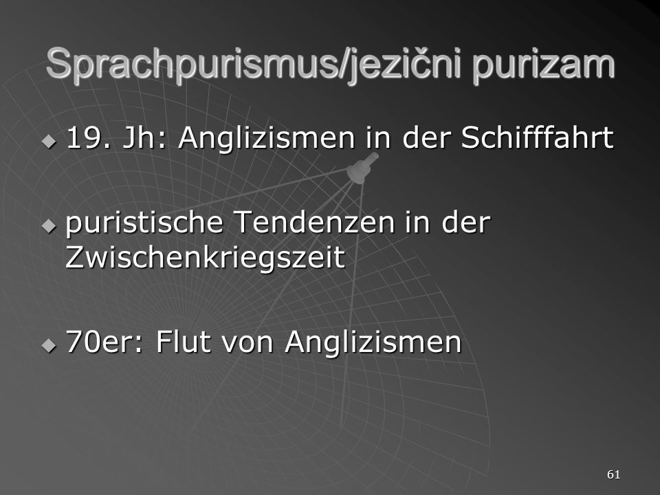Sprachpurismus/jezični purizam