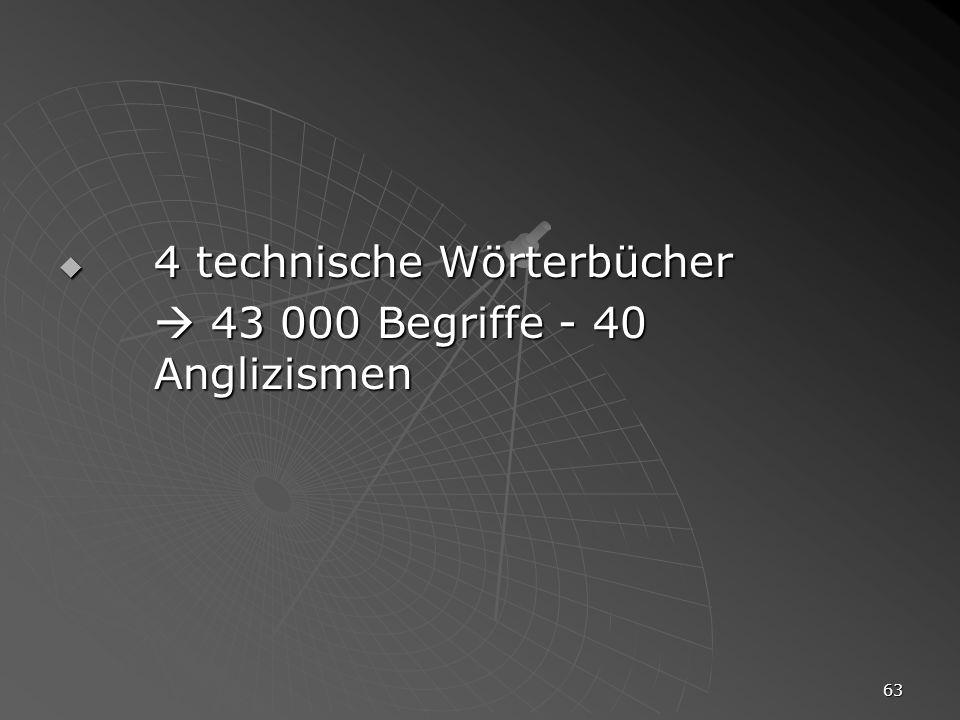 4 technische Wörterbücher