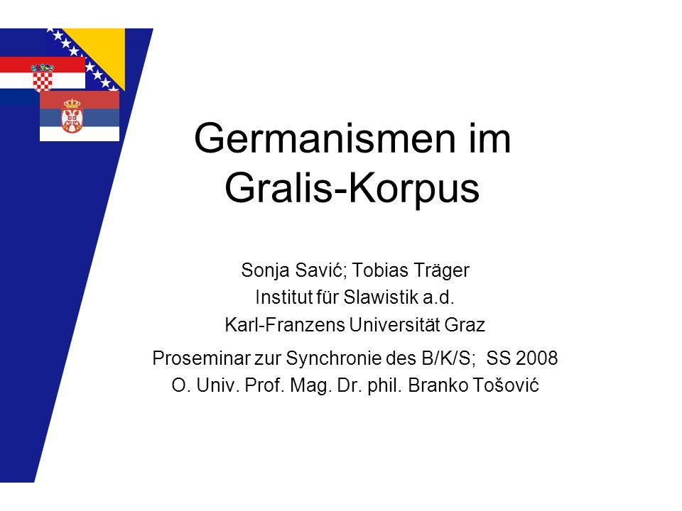 Germanismen im Gralis-Korpus