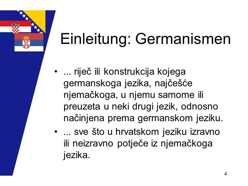 Einleitung: Germanismen