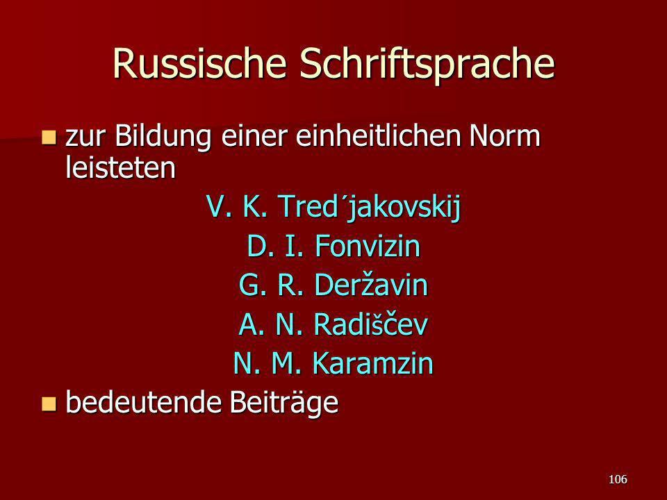 Russische Schriftsprache