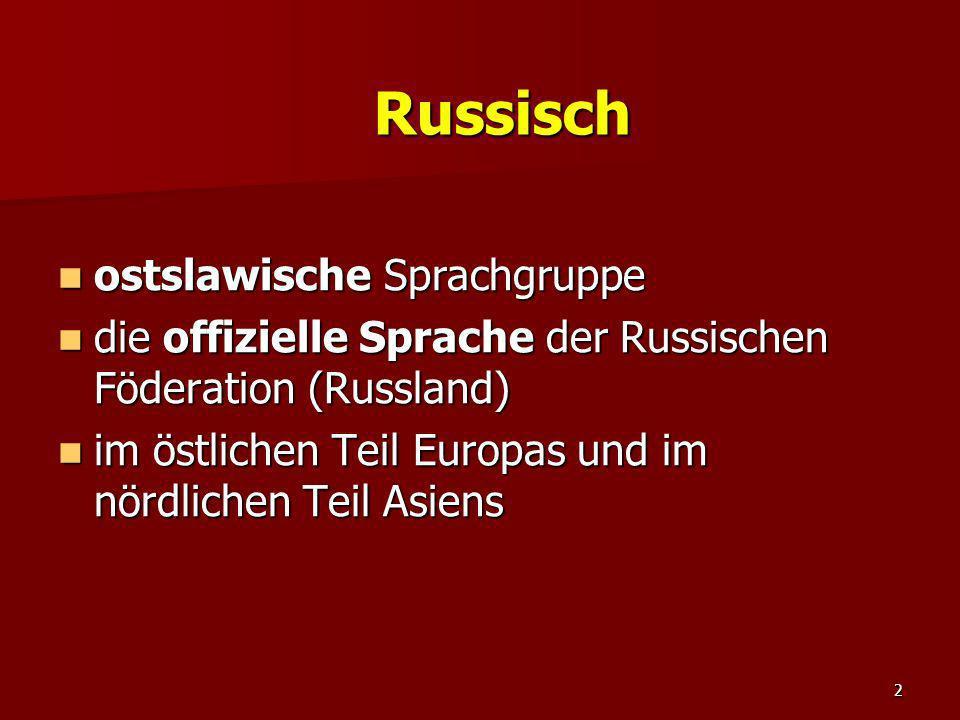 Russisch ostslawische Sprachgruppe