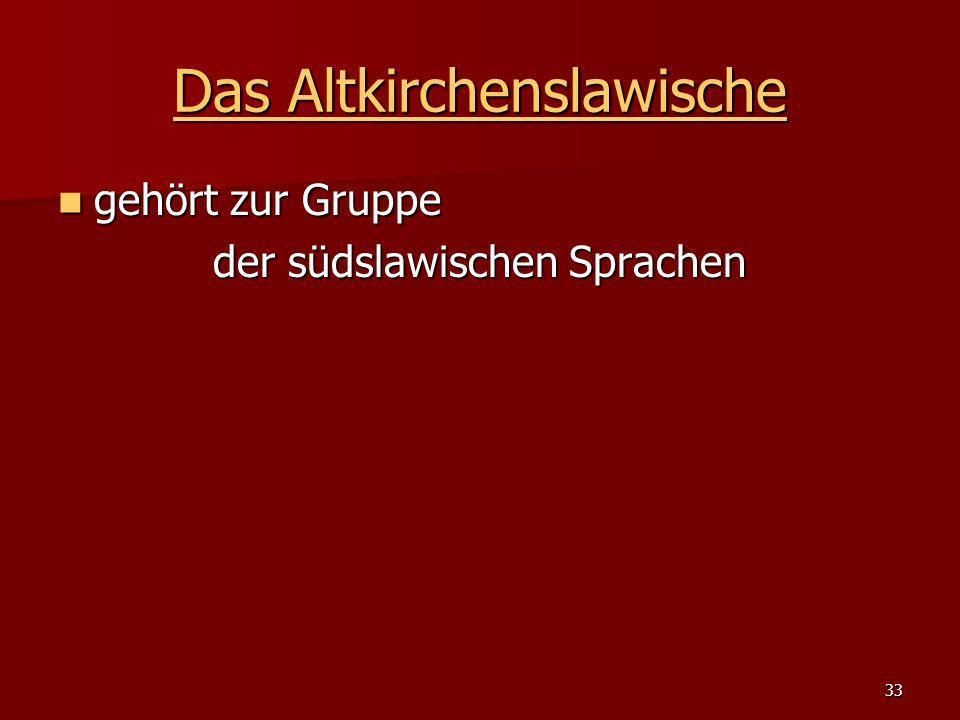 Das Altkirchenslawische