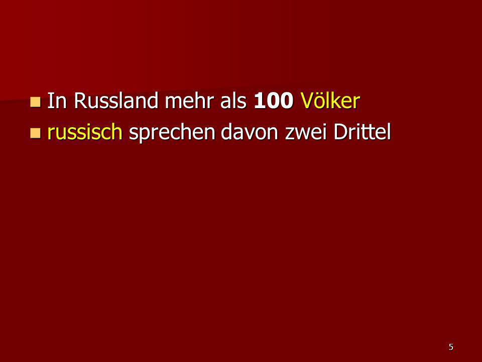 In Russland mehr als 100 Völker