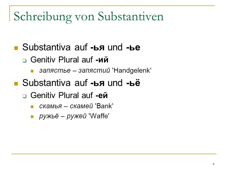 Schreibung von Substantiven