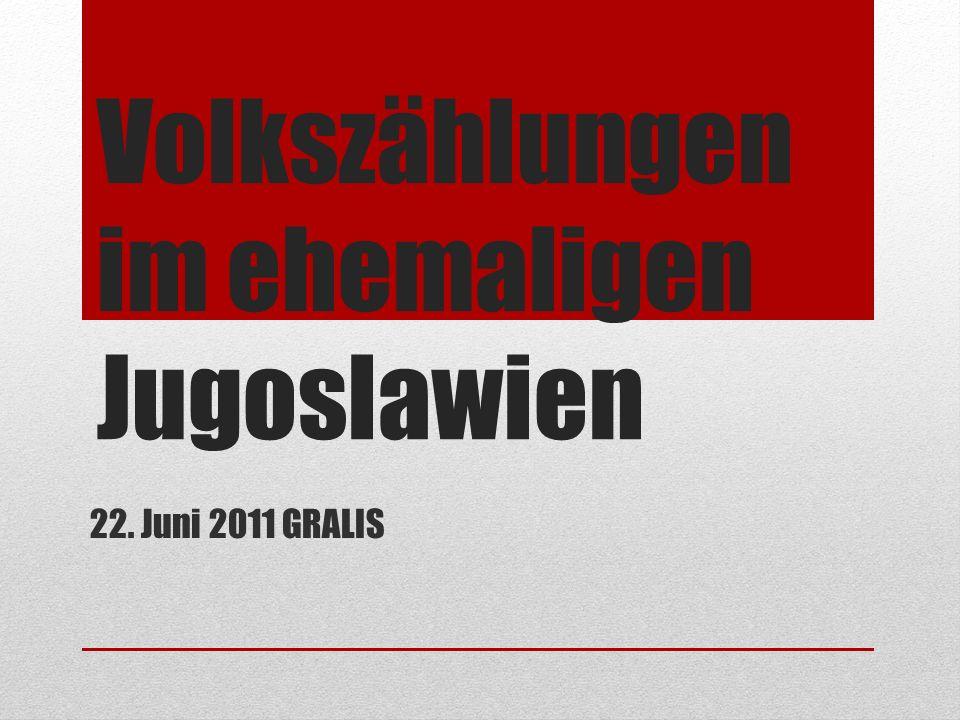 Volkszählungen im ehemaligen Jugoslawien