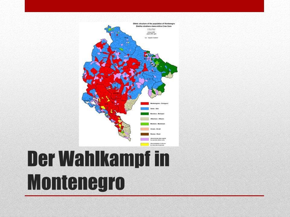 Der Wahlkampf in Montenegro